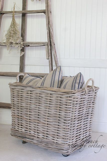 Thereu0027s Something Charming About A Chunky Oversized Basket In A Gorgeous  Chalky Grey, Stuffed With