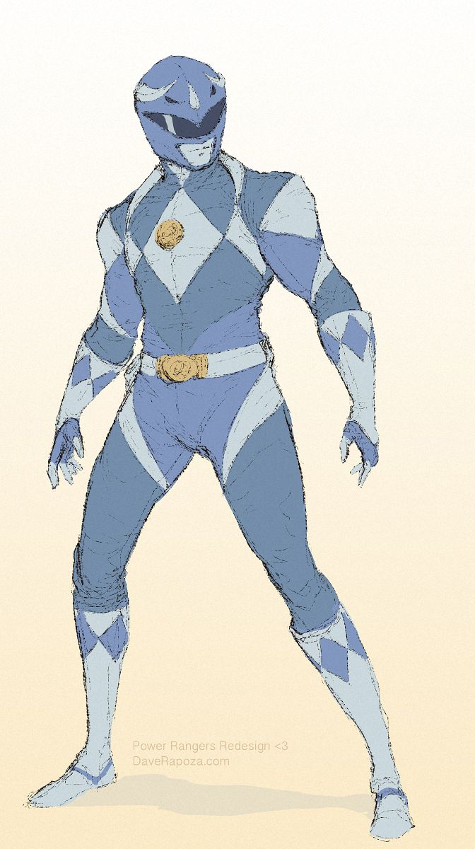 DaveRapoza.com // daverapoza: Heard about the new movie, started playing around redesigning, well, idk what I did really. But new takes on the same designs. Blue Ranger! DaveRapoza.com
