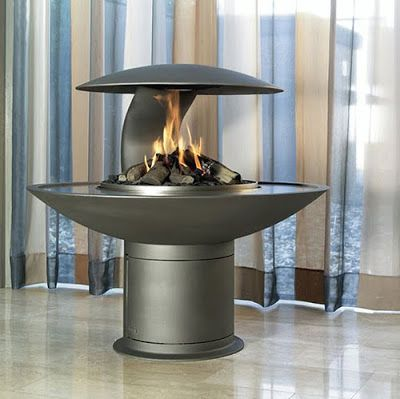 Best fireplace design ideas: Round free standing wood/gas fireplaces, UK