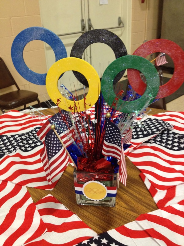 Centerpiece Cub Scout Theme Olympics Office Olympics