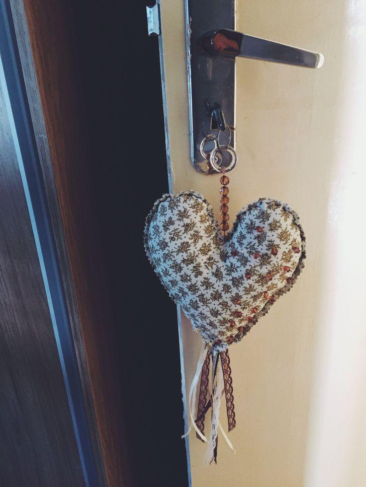 Coração chaveiro ❤️ #patchwork