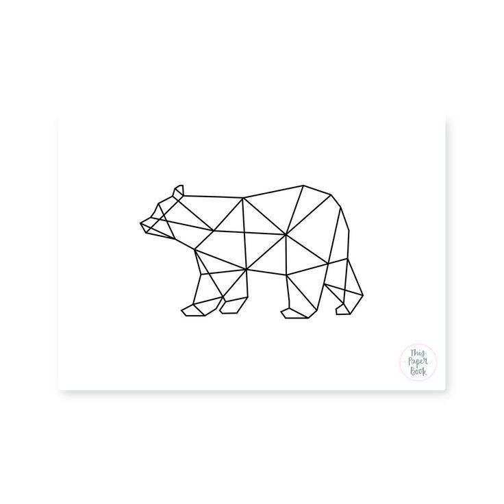 One Line Art Bear : Best shapes for artwork images on pinterest patrones