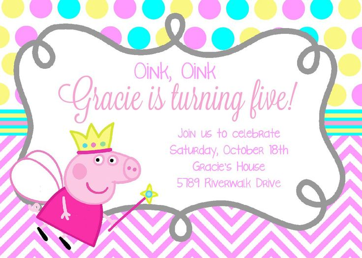 Best 25 Peppa pig birthday invitations ideas – Birthday Invitations Sydney