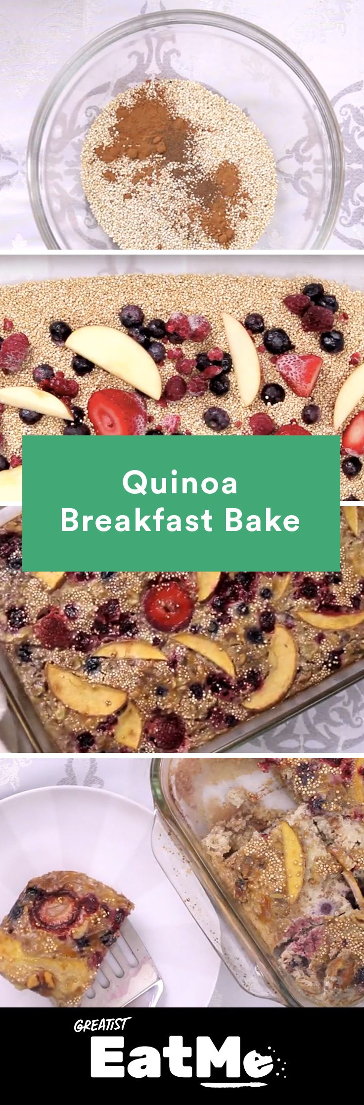 Breakfast is served—for the next 5 days! #healthy #quinoa #breakfast #bake http://greatist.com/eat/quinoa-breakfast-bake-recipe-video