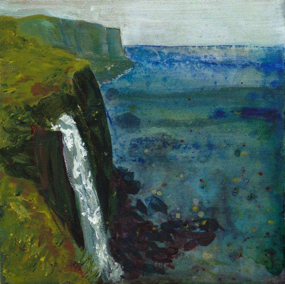 Kilt Rock Waterfall, Isle of Skye (Small Framed Painting)