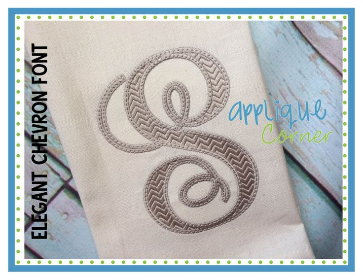 INSTANT DOWLOAD 2279 Elegant Chevron Embroidery Font bx, pes and dst only digital design for embroidery machine by Applique Corner by AppliqueCornerDesign on Etsy https://www.etsy.com/listing/241847049/instant-dowload-2279-elegant-chevron
