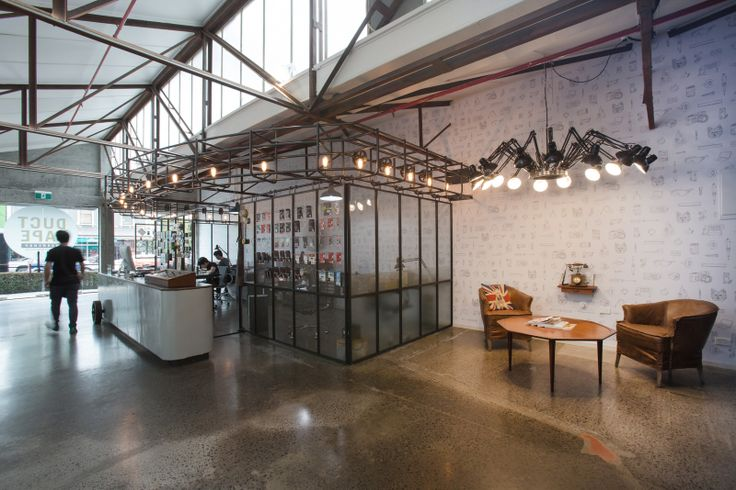 A steel pod was inserted into the existing industrial space | Duct Tape Workshop (Ponsonby Central, Auckland). | Photo by the talented Jeremy Toth | Fit out by Material Creative.