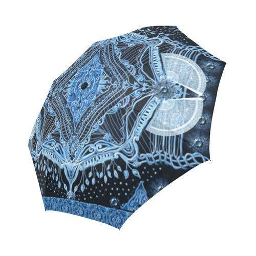 Blue harmony Large  umbrella Rain and sun