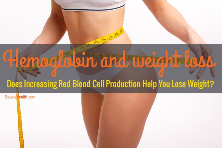 When people lose weight, their hemoglobin and hematocrit (the ratio of red blood cell volume to total blood volume) both go up. But does it work the other way around?