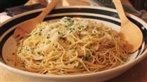 """Clam Pasta! Looks yummy and is an easy """"pantry"""" meal. My modifications: 1. Way more garlic 2. White wine 3. Red pepper flakes 4. Sautee all items in one pan until well blended and melty (after pasta is cooked)"""