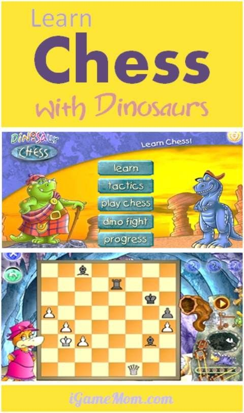 Dinosaur chess app - fun and easy game for kids as young as 3 to learn chess. Kids will learn at their own pace, and can play against the computer with adjusted skill level that is competitive and encouraging for kids.