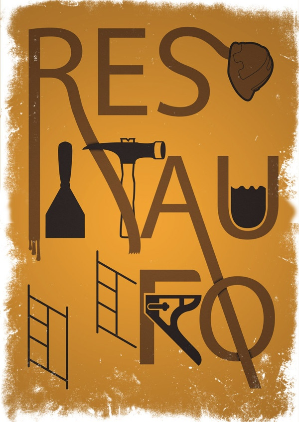 Restauro by Claudio Coutinho, via Behance
