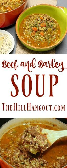 Beef and Barley Soup recipe from The Hill Hangout shared over at Served Up With Love. Super simple and packed with a ton of flavor to keep  you warm and comfy on a cold day. http://www.servedupwithlove.com