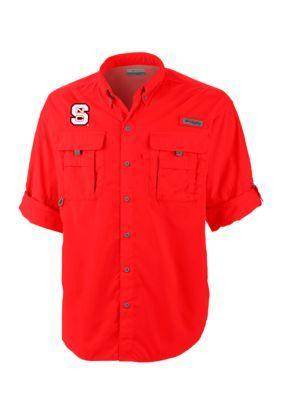 Outdoor Custom Sportswear Nc State Bahama Ii Button Down - Intense Red - 2Xl