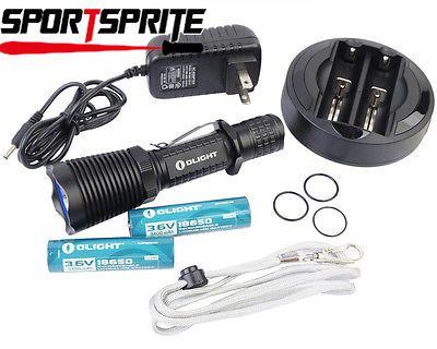 Olight M22 Warrior Kit CREE XM-L2 LED 950Lm 18650 Tactical Flashlight w/Charger