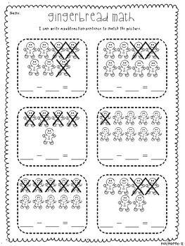 Gingerbread Math: Subtraction Sentences
