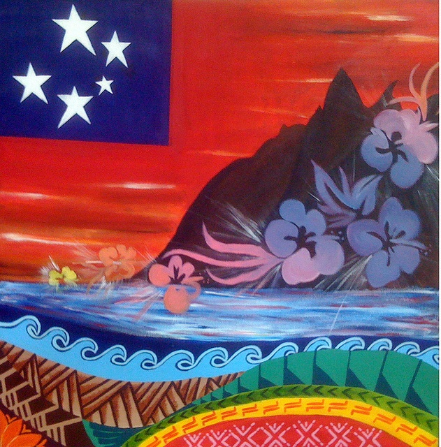 Samoa - Greenridge Secondary School - YOG Fabric Art by Singapore 2010 Youth Olympic Games,