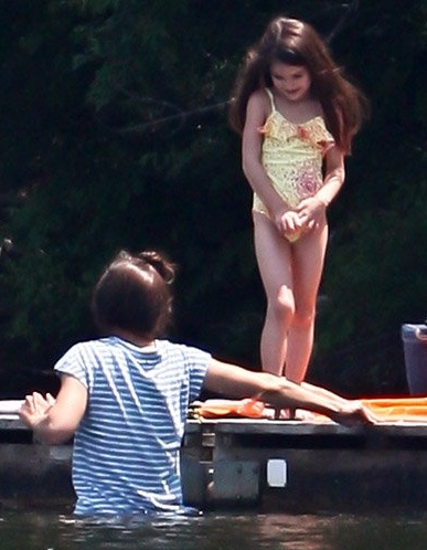 MAY 2012, CONNECTICUT  she changed into:  Sparkle Print One-piece Swimsuit S/S'12by GAP