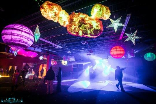Cotton candy galaxy theme rave and party decor l e d for Outer space decor ideas