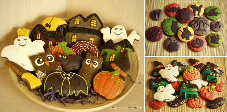 Halloween cookie designs