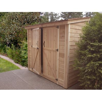 outdoor living today spacesaver 9 ft w x 5 ft d wood lean shed storagedoor