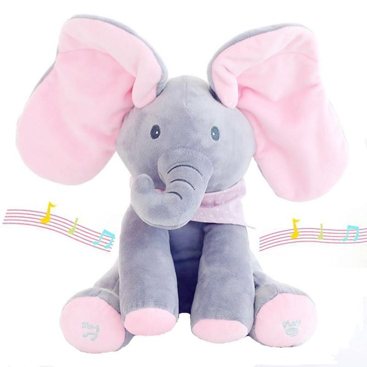 Musical Animated Soft Plush Toy Stuffed Elephant or Dog - Sings, Plays Peek-A-Boo ~ Adorable & Fun! On Sale Now + FREE Shipping !!!