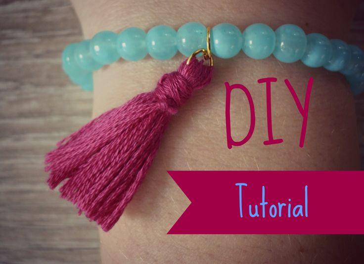 Kwastjes Maken | armbandjesmaken.com DIY Tutorial tassel bracelet handmade jewelry ibiza summer style