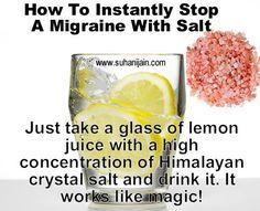 Himalayan salt and lemon juice for migraines - Google Search
