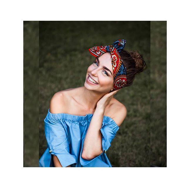 #Повязка #fleur-de-lis# украшение не только для #головы, но и изящный #шарфик…