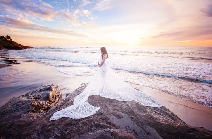 Tiffany Allen Photography - San Diego, CA, United States. Sunset Beach Maternity Photography