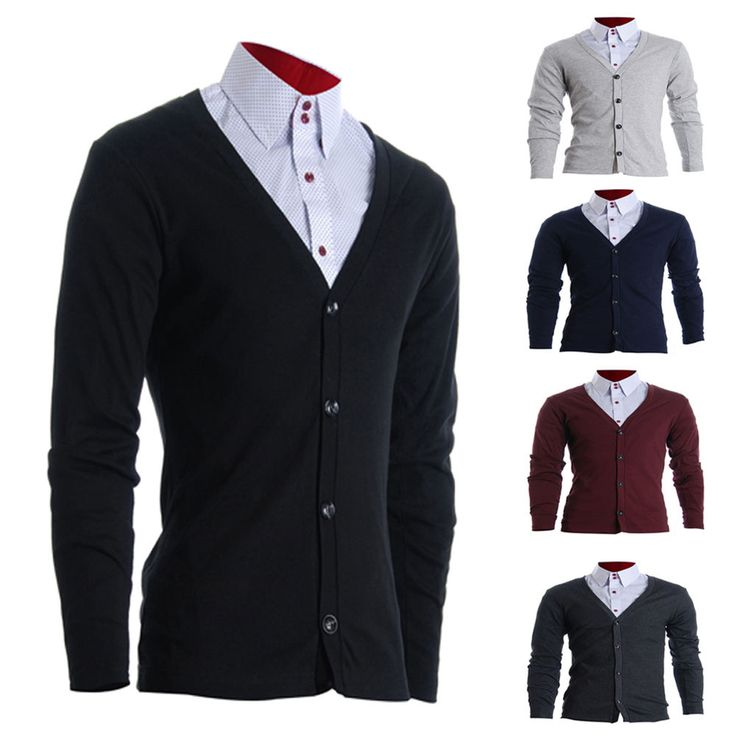 FLATSEVEN MEN SLIM FIT STYLISH BUTTON UP CARDIGAN 5 Colors Select / FC100  #FLATSEVEN #Cardigan