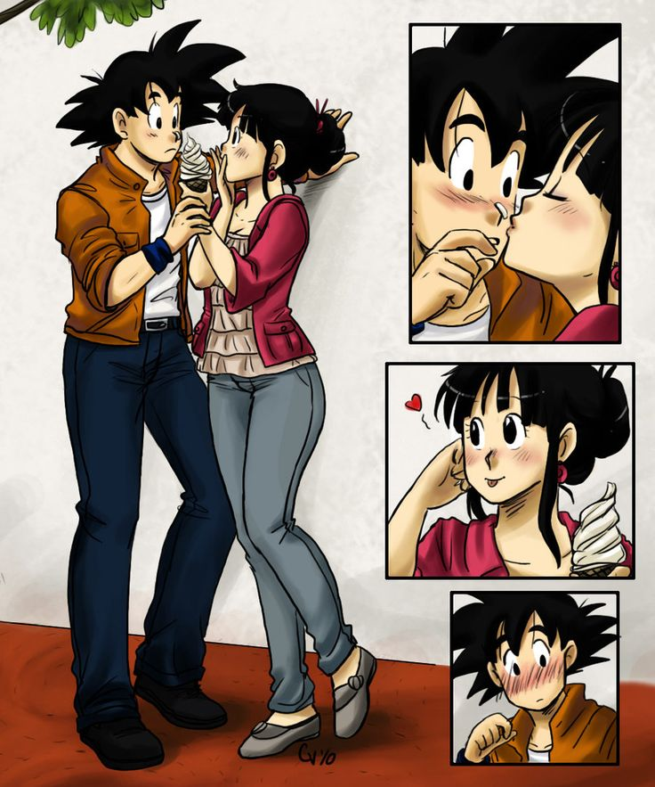 Excellent Dragon ball chi chi and goku kiss have hit