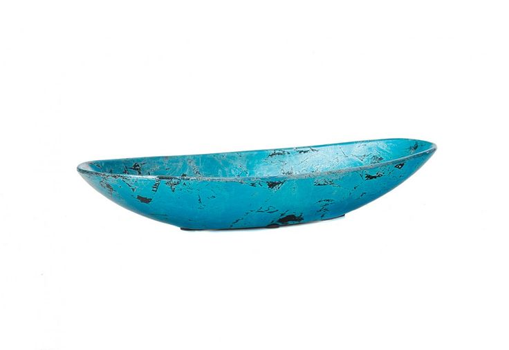 Gift Idea - Mottle Ceramic Decorative Bowl, available in aqua and red. Under $30 | Super A-Mart