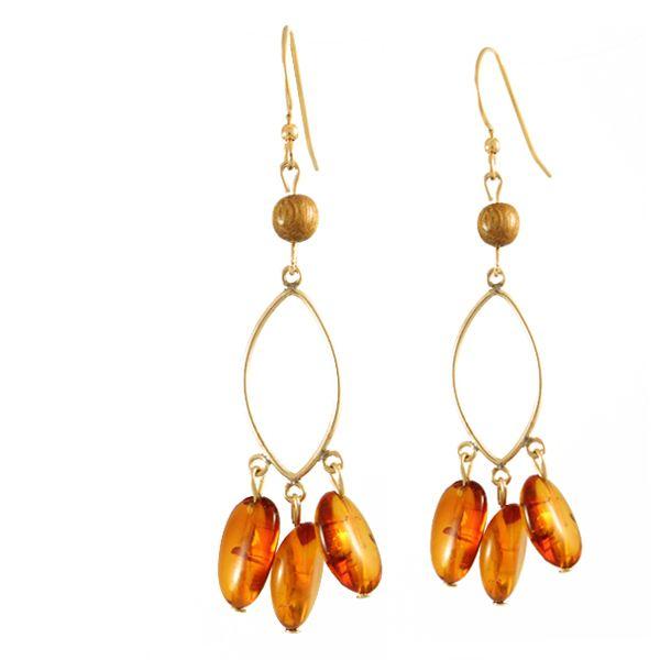 Amber Drop Earrings  Gold-Filled/$110