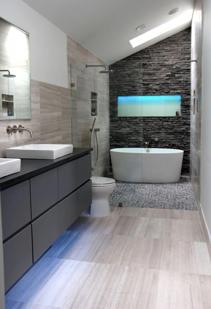 Cool Modern Gray Bathroom Design By Change Your Bathroom In 2020 Modern Master Bathroom Design Luxury Master Bathrooms Beautiful Bathroom Designs