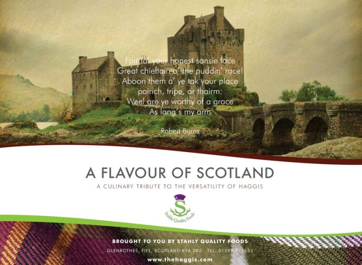 Haggis Recipes > Haggis Recipes and Haggis Recipe Book from Stahly Quality Foods, Fife, Scotland UK
