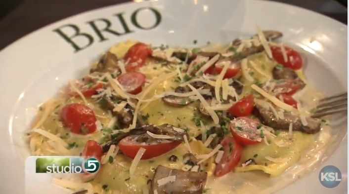 Rich, creamy, mushroom ravioli from Brio Tuscan Grille. The perfect recipe for your springtime celebrations!