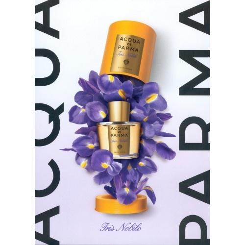 Acqua di Parma Iris Nobile is een speciaal voor vrouwen gecreëerd parfum, waarin de irisbloem centraal staat, deze geeft dit parfum haar unieke karakter. Het florale parfum roept meteen een aangename sensatie van frisheid op. Een perfect evenwicht tussen de precieuze elegantie van het klassieke bloemenboeket en de geraffineerde moderniteit die eigen is aan het huis van Acqua di Parma