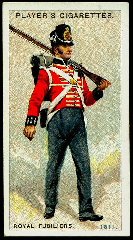 1811   Royal Fusiliers.    Cigarette Card.                              suzilove.com