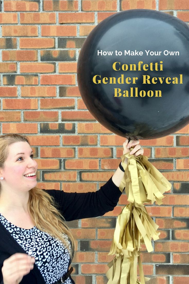 How to Make Your Own Confetti Gender Reveal Balloon