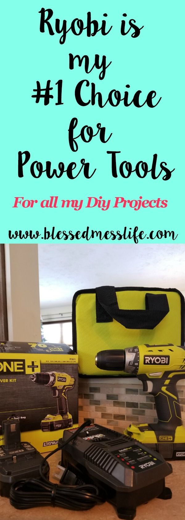 Best DIYer tools!  Here is why I choose ryobi tools for all of my diy projects! #diy #tools