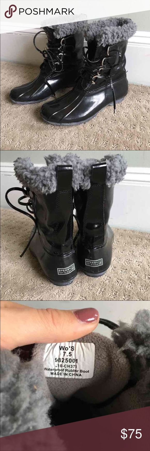 Sperry Winter boots In great condition... Like new.... Gently used and size is women's 7.5. Good for rain and snow. Sperry Top-Sider Shoes Winter & Rain Boots