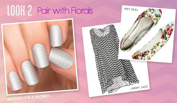 What an original idea of geometric nail art for real business ladies!