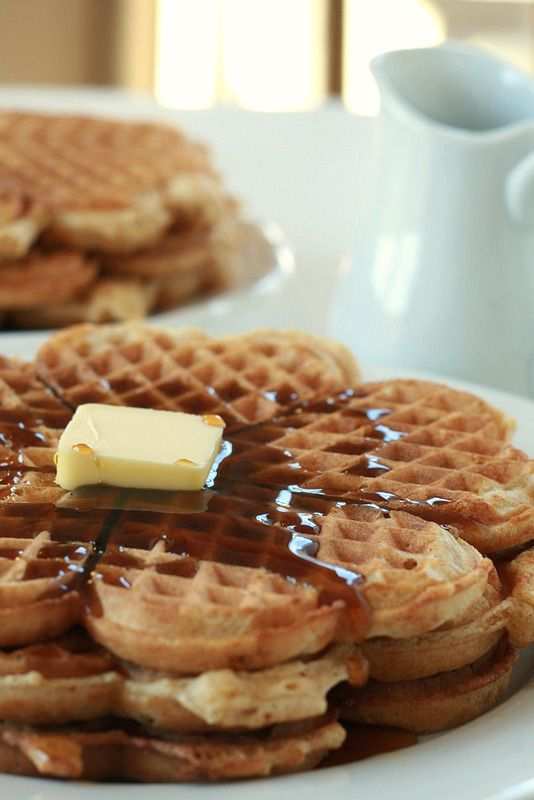 Whole Wheat Waffles - made it vegan. used flax seed eggs - didn't ...