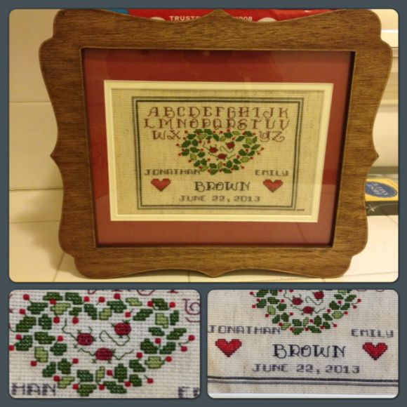 wedding cross stitch sampler cross stitch pinterest