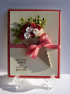 Bouquet of Flowers Welcome Rainy Box Crafts #scrapbook #card #stampinup