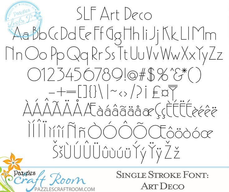 Art Deco Single Stroke Font for journaling and engraving