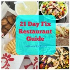 21 day fix|busy moms|losing weight|healthy eating|clean eating|lose weight| Restaurant guide for weight loss| A guide to help you learn how to eat out while on the 21 day fix.  Using the 21 day fix, but you don't have a coach for accountability and support? Click on pic for how I can help you reach your goals. #21dayfix #21dayfixrecipes