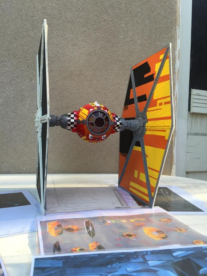 Sabine Custom Paint Job on a Big Wing Tie Fighter. Painted ...