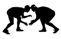 Wrestling silhouette